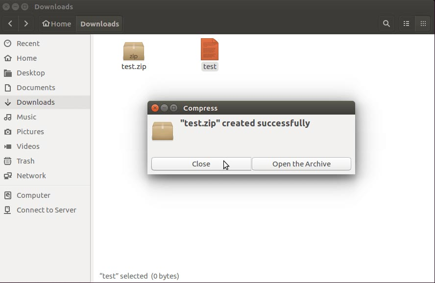 dialogue-box-with-message-test-zip-created-successfully-ubuntu-linux