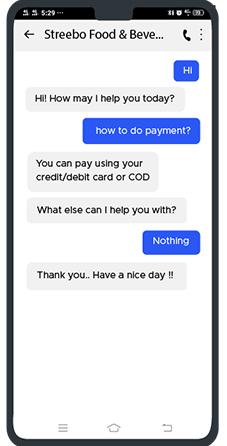 Chatbot-for-Customers-of-Food-&-Beverage