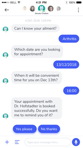 Chatbot for Healthcare