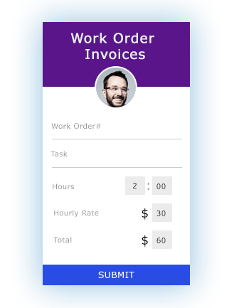 Work Order Invoices